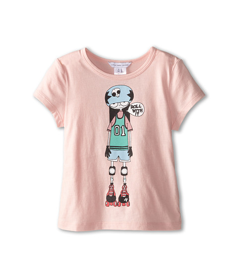 Little Marc Jacobs - Roller Printed Tee Shirt (Toddler/Little Kid) (Light Pink) Girl's Short Sleeve Pullover