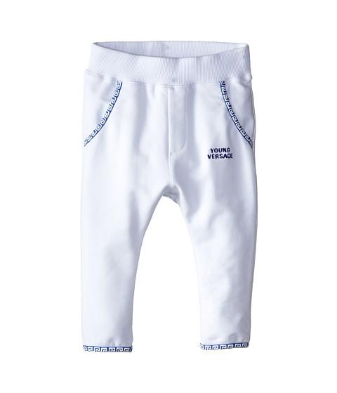 Versace Kids - Sweatpant w/ Contrast Logo Piped Trim (Infant) (White/Blue) Boy