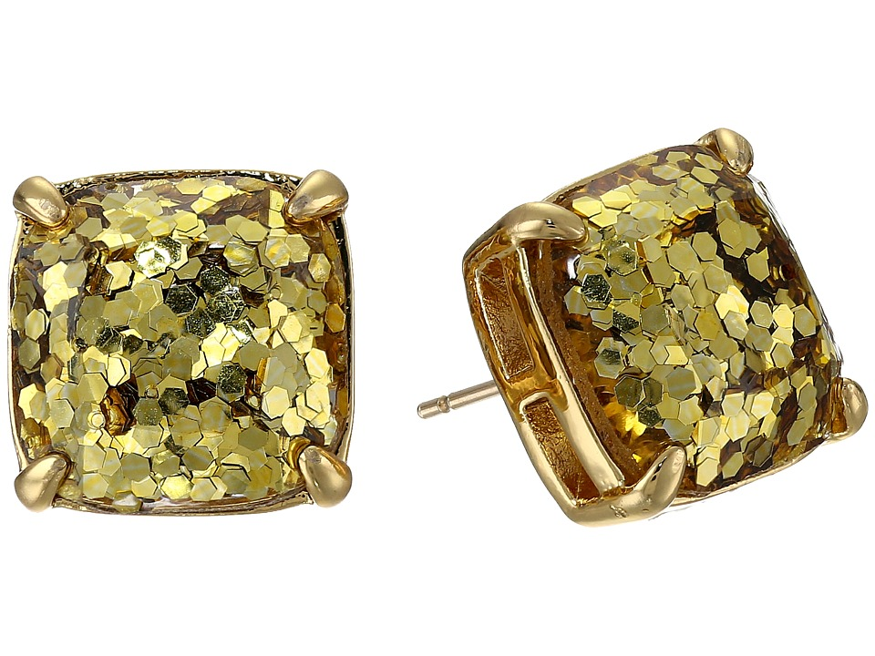Kate Spade New York - Small Square Studs (Gold Glitter) Earring