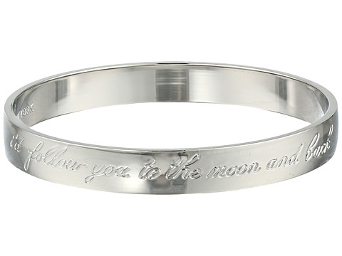 Kate Spade New York - Idiom Bangles Moon Engraved Bangle (Silver) Bracelet