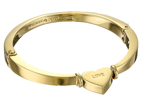 Kate Spade New York - Dear Valentine Love Bangle - Hinged (Gold) Bracelet