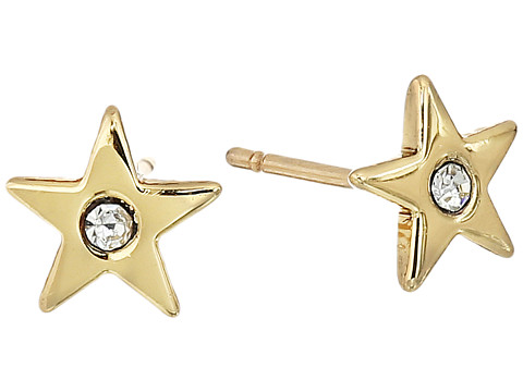 Kate Spade New York - Starry Eyed Mini Studs Earrings (Clear/Gold) Earring