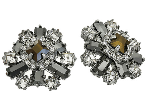 Kate Spade New York - Space Age Floral Studs Earrings (Hematite Multi) Earring
