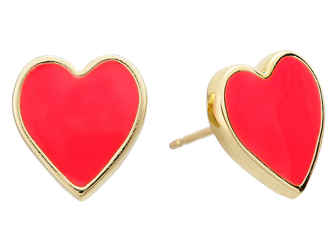 Kate Spade New York - Dear Valentine Heart Studs Earrings (Geranium) Earring