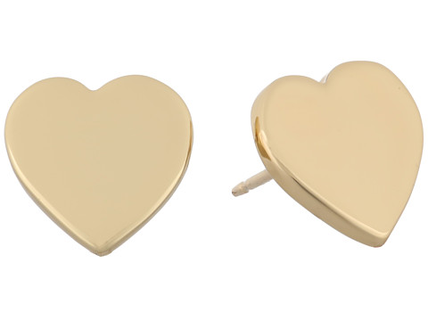 Kate Spade New York - Dear Valentine Heart Studs Earrings (Gold) Earring
