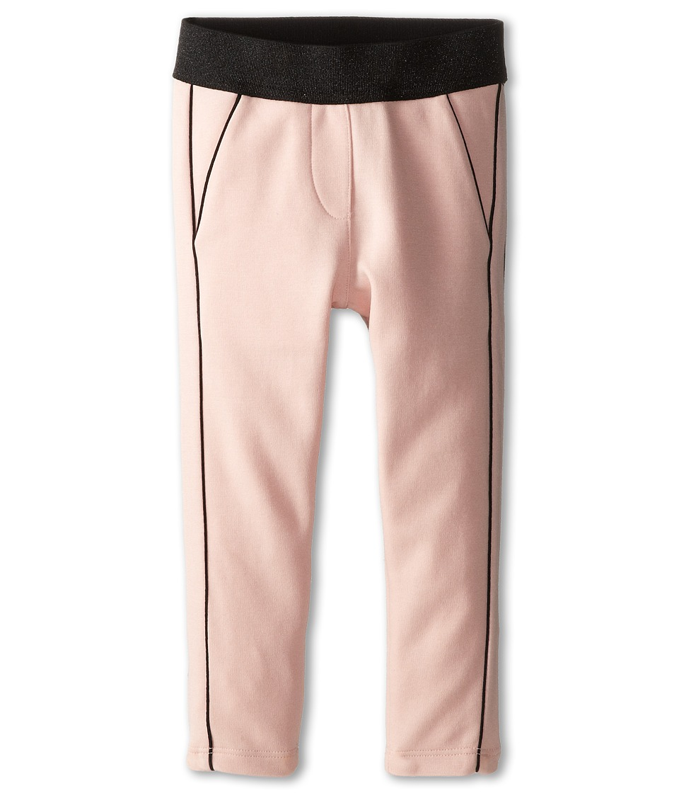 Little Marc Jacobs - Milano Fabric Lurex Waist Pants (Toddler/Little Kid) (Light Pink) Girl's Casual Pants
