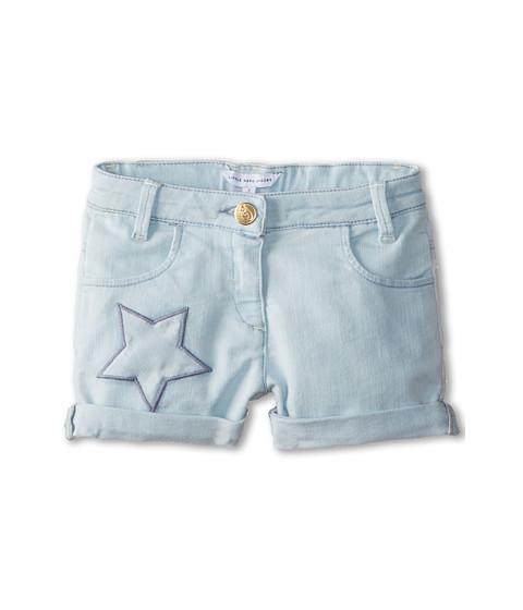 Little Marc Jacobs - Star Embroidered Denim Shorts (Toddler/Little Kid) (Bleach) Girl