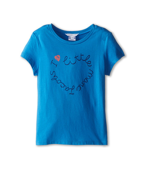 Little Marc Jacobs - Short Sleeve Printed Logo Tee Shirt (Little Kid/Big Kid) (Blue Logo) Girl's Short Sleeve Pullover