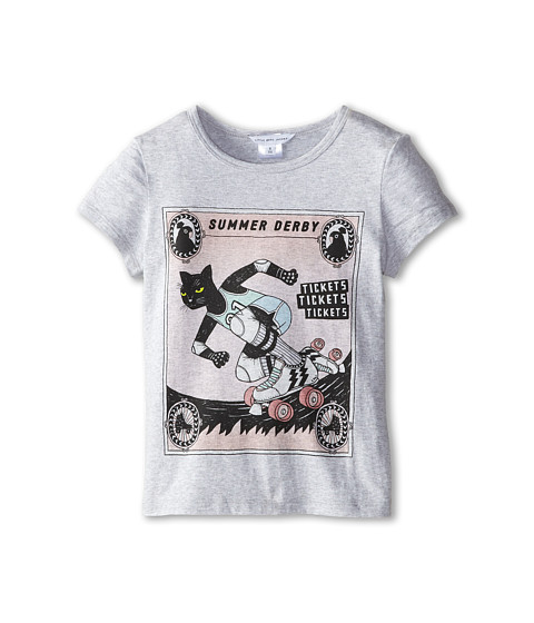 Little Marc Jacobs - Roller Printed Tee Shirt (Little Kid/Big Kid) (Grey) Girl's Short Sleeve Pullover