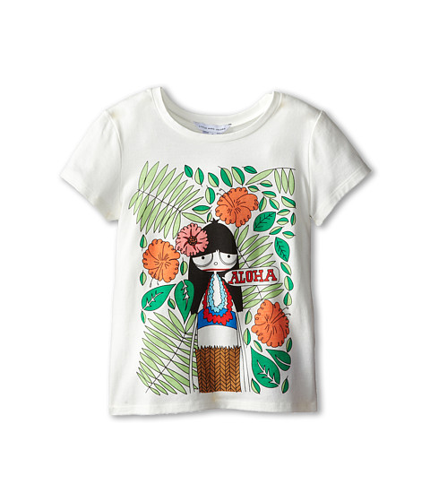 Little Marc Jacobs - Miss Aloha Printed Tee Shirt (Little Kid/Big Kid) (Off White) Girl's Short Sleeve Pullover