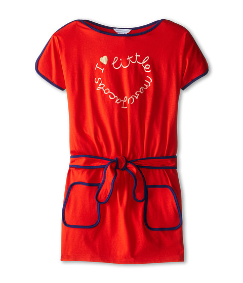 Little Marc Jacobs - Short Dolman Sleeve Logo Jersey Dress (Little Kid/Big Kid) (Chile Red) Girl