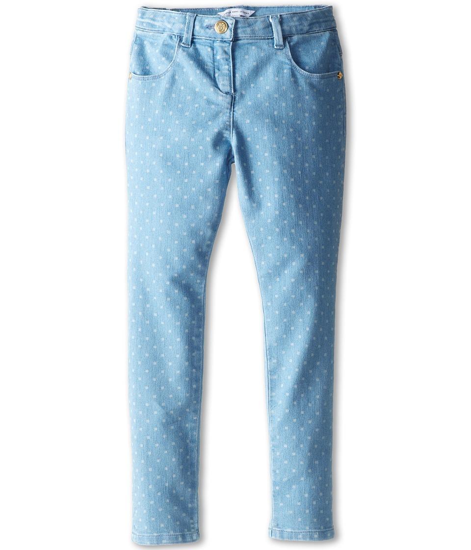 Little Marc Jacobs - Dot Print Denim (Little Kid/Big Kid) (Bleach) Girl's Jeans