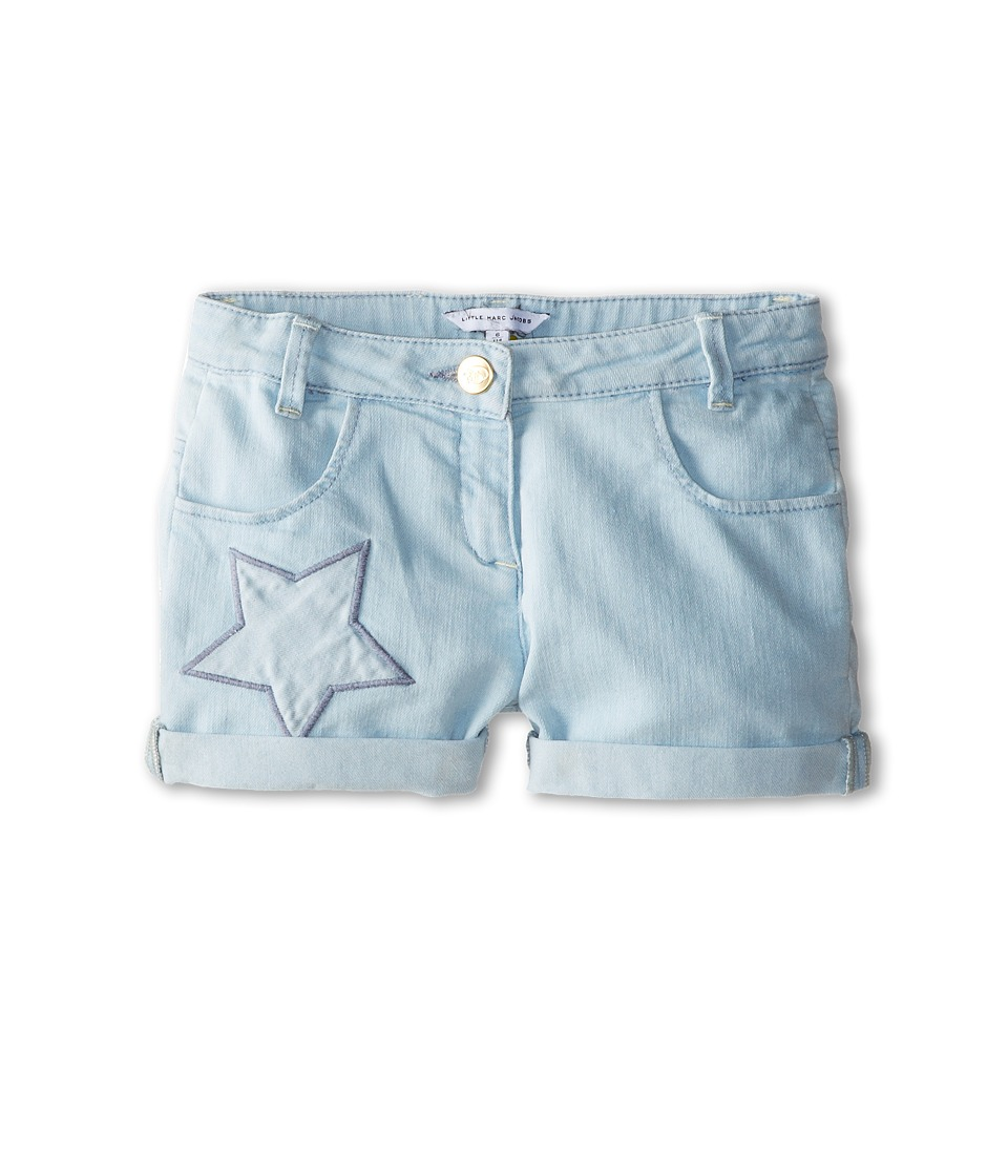 Little Marc Jacobs - Star Embroidered Denim Shorts (Little Kid/Big Kid) (Bleach) Girl's Shorts