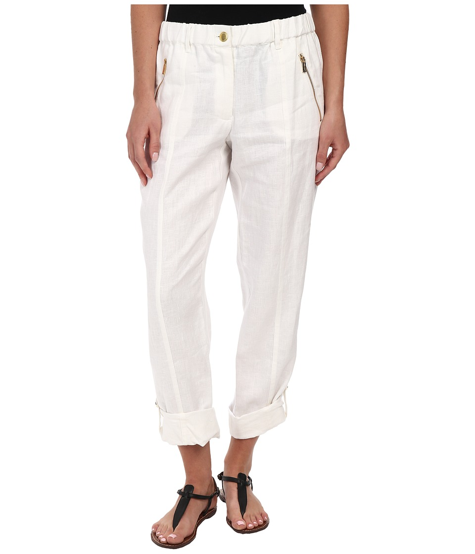 Calvin Klein - Tab Cuff Pant (Soft White) Women's Casual Pants