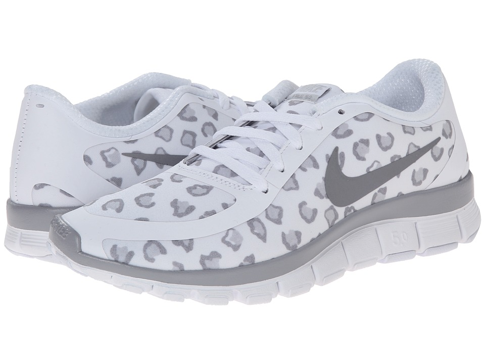 Nike - Free 5.0 V4 (White/Pure Platinum/Wolf Grey) Women's Shoes