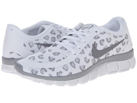 réal Nike Free 5.0 V4 Blanc Léopard jeu bonne vente Livraison gratuite rabais vente parfaite BldCB