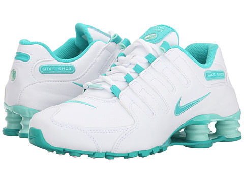 Nike - Nike Shox NZ EU (White/Artisan Teal/Light Retro) Women's Shoes