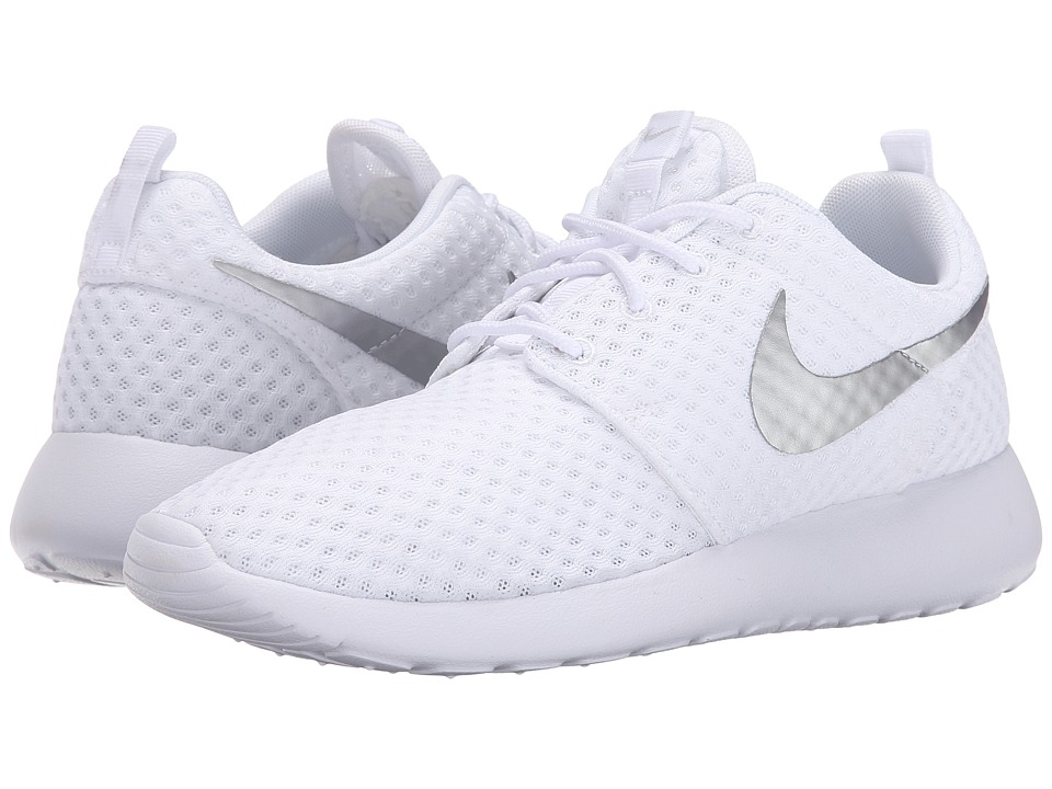 Nike - Roshe Run (White/Metallic Platinum 2) Women's Shoes
