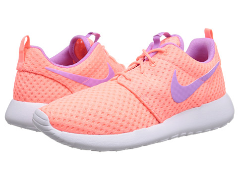 Nike - Roshe Run (Lava Glow/White/Fuchsia Glow) Women's Shoes