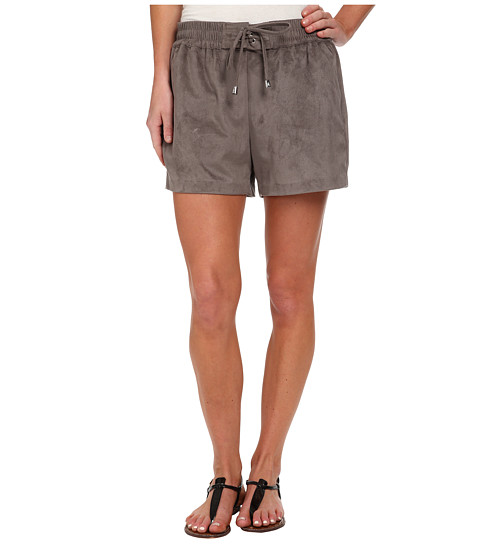 Vince Camuto - Pull-On Faux Suede Shorts w/ Drawstring (Mink) Women