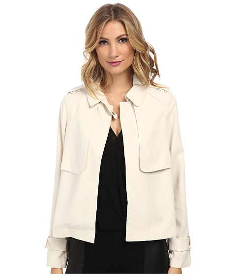 Vince Camuto - Mini Trench Jacket (White Clay) Women's Coat
