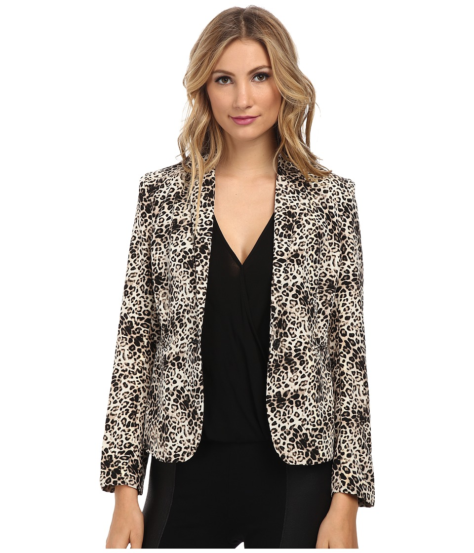 Vince Camuto - One Button Animal Legacy Blazer (Rich Black) Women's Jacket