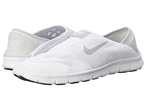 Nike - Orive Lite Slip-On (White/Metallic Platinum/Black) Women