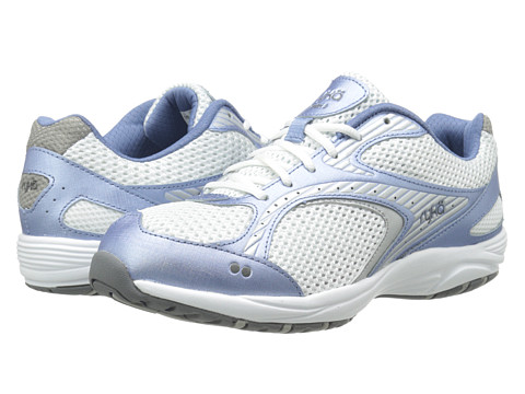 Ryka - Dash 2 (White/Met Lake Blue Chrome Silver/Steel Grey) Women's Shoes
