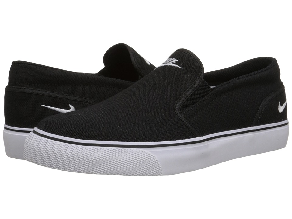 Nike - Toki Slip Canvas (Black/White) Women's Shoes