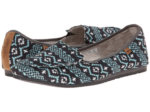 Freewaters - Snuggle Bug (Navy Print) Women's Flat Shoes