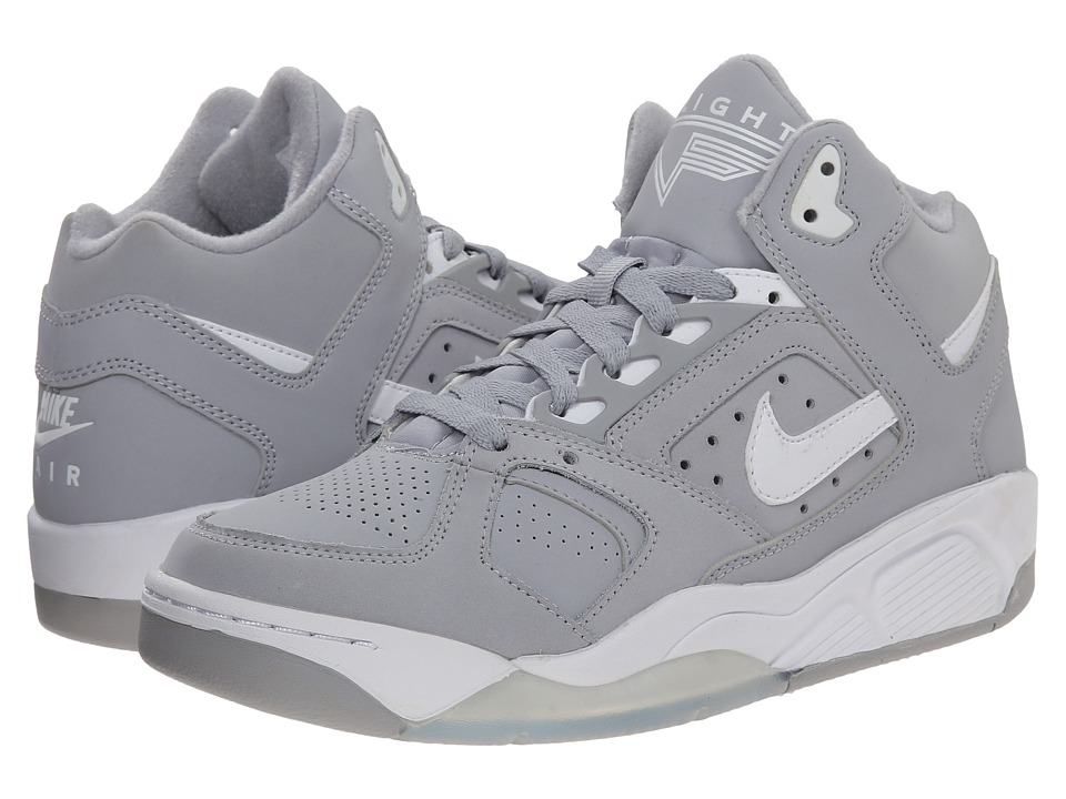 Nike - Air Flight Lite Low (Wolf Grey/Persian Violet/White) Men's Shoes