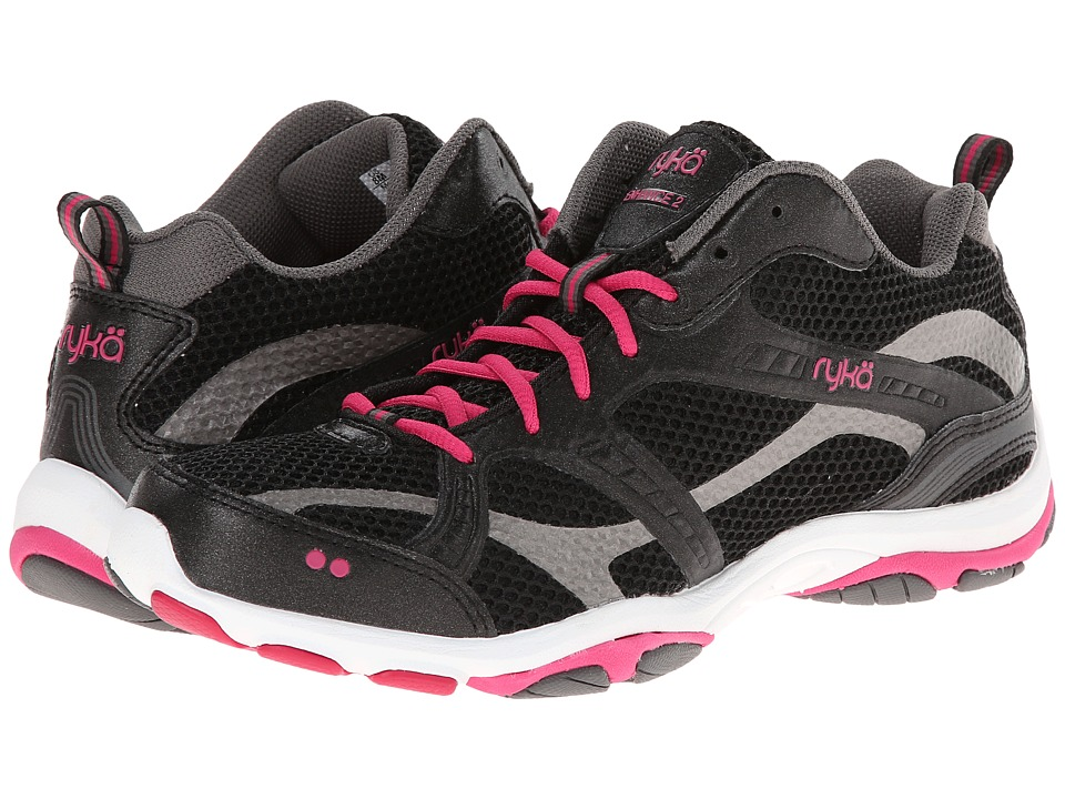 Ryka - Enhance 2 (Black/Zumba Pink/Met Steel Grey) Women's Cross Training Shoes