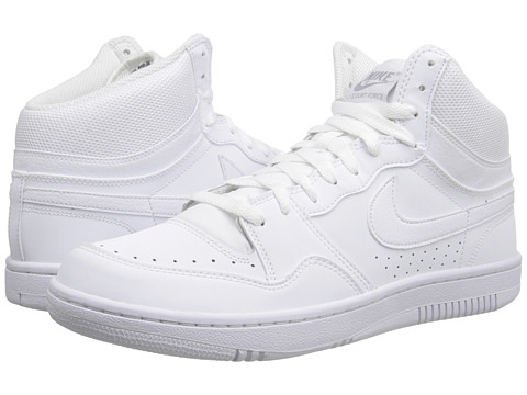 Nike - Court Force Hi ND (White/White/Wolf Grey) Men