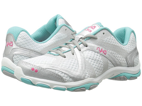 Ryka - Influence (White/Aqua Sky/Hot Pink/Chrome Silver/Vapor Grey) Women's Shoes