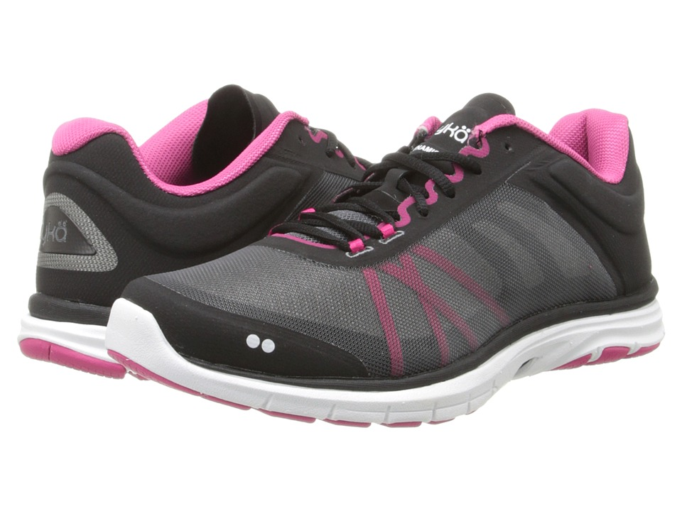 Ryka - Dynamic 2 (Black/Ryka Pink/Iron Grey) Women's Shoes