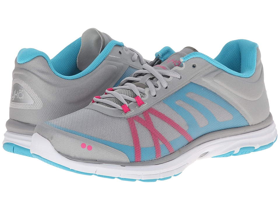 Ryka - Dynamic 2 (Cool Mist Grey/Detox Blue/Athena Pink/Chrome Silver) Women's Shoes