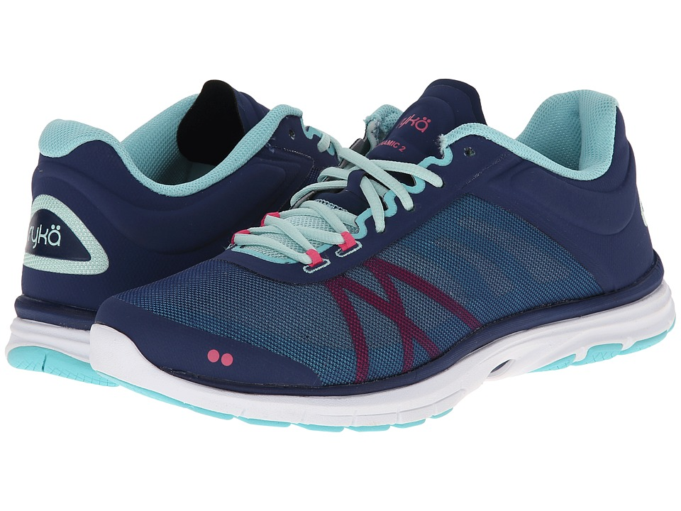 Ryka - Dynamic 2 (Jet Ink Blue/Mint Ice/Hot Pink/Aqua Sky) Women's Shoes