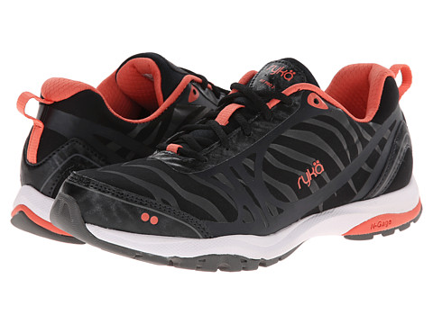 Ryka - Fit Pro 2 (Black/Steel Grey/Coral Reef) Women's Shoes