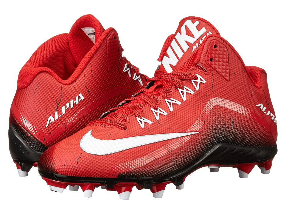 Nike - Alpha Pro 2 3/4 TD (Game Red/Black/White) Men's Cleated Shoes