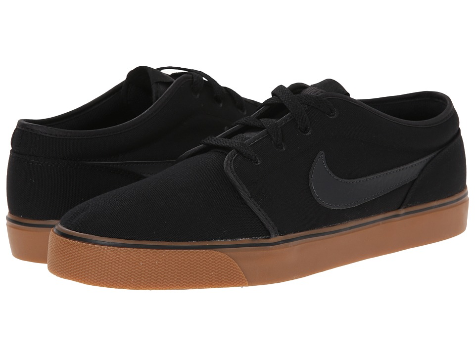Nike - Toki Textile - Low (Black/Gum Medium Brown/Anthracite) Men's Shoes