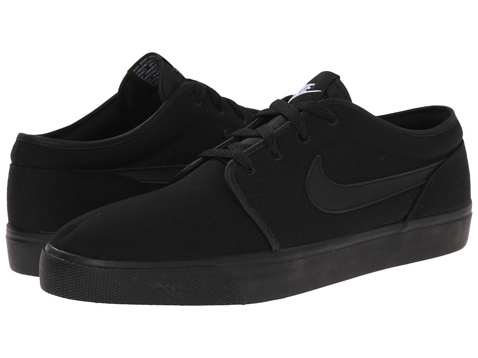 Nike - Toki Textile - Low (Black/Black/Black) Men's Shoes