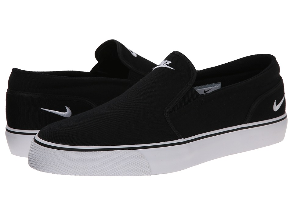 Nike - Toki Slip Textile (Black/White) Men's Shoes