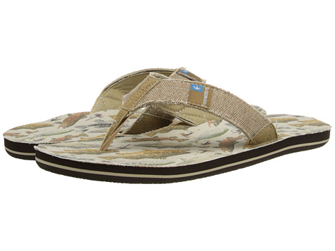 Freewaters - Palapa Print (Freshwater Fish) Men's Shoes