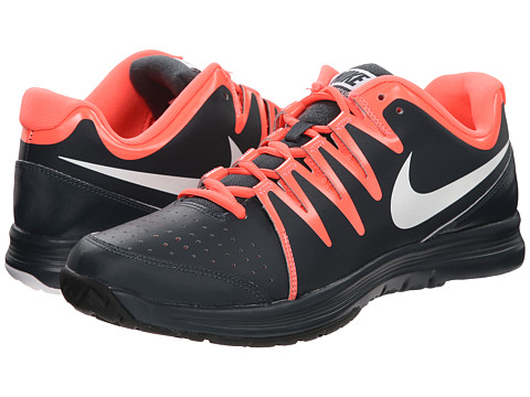 Nike - Vapor Court (Classic Charcoal/Hot Lava/Black/White) Men's Tennis Shoes