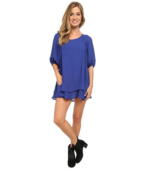 Lucy Love - Gabrielle Dress (Blue Velvet) Women