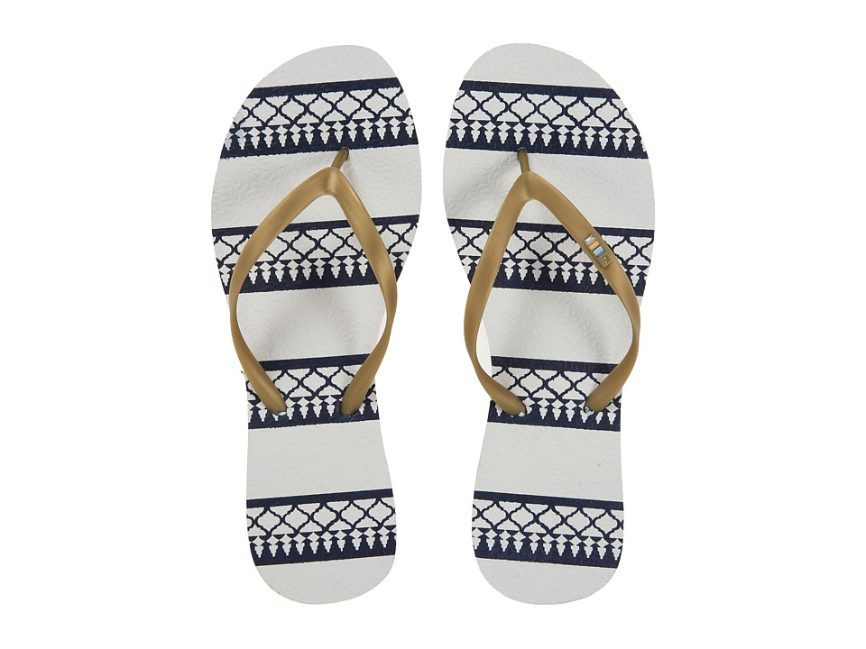 Freewaters Tropea Print (Gold/Navy Print) Women