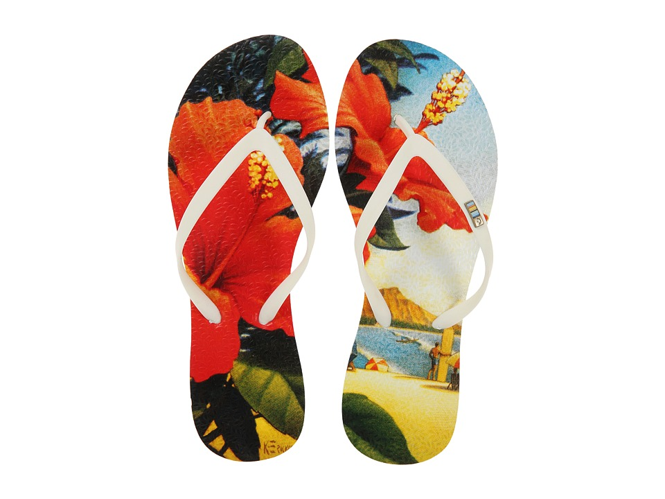 Freewaters - Tropea Print (White/Hawaii Print) Women's Shoes