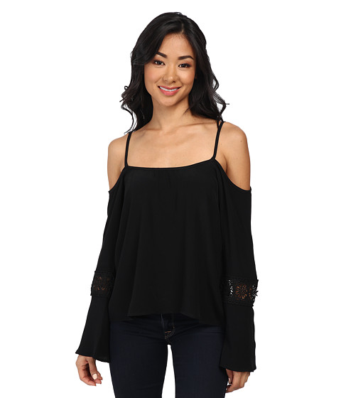 Lucy Love - Long Sleeve Hollie Top (Black) Women's Long Sleeve Pullover