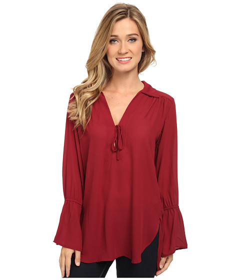 Lucy Love - Casa Nova Top (Garnet) Women's Long Sleeve Pullover