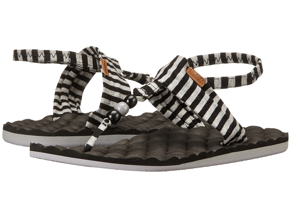 Freewaters - Riviera Print (Black/Grey Stripe) Women's Shoes